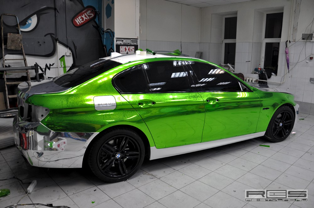 Chrome Green Re Styling Bmw 550i Shows Off New Fashion
