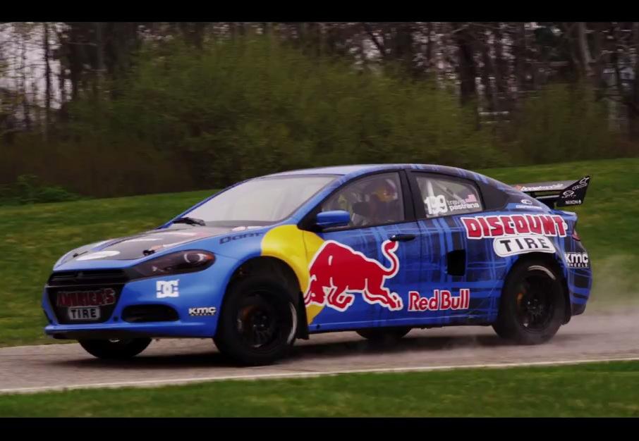 Dodge Dart rally car Travis Pastrana |