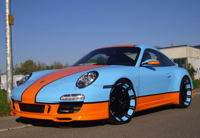 Gulf Racing 997 Porsche 911 Goes For The Retro Look