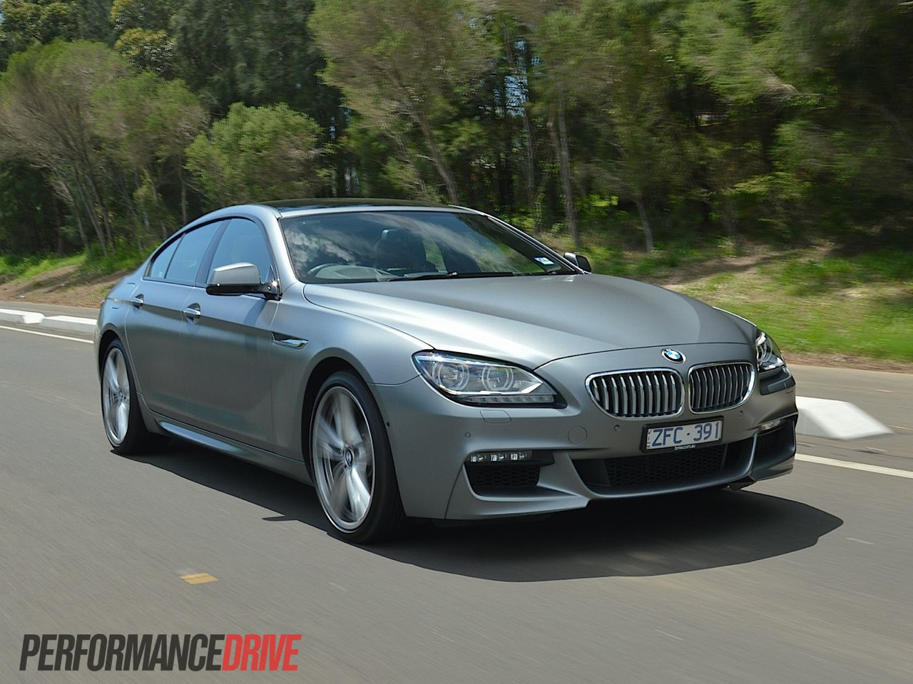2013 BMW 650i Gran Coupe Frozen Grey driving
