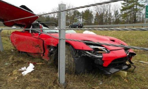 2013 SRT Viper crash ends tragically, killing Chrysler engineer