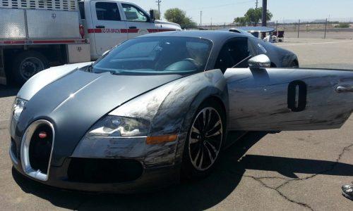Ouch: Bugatti Veyron crash in Arizona, during track drive