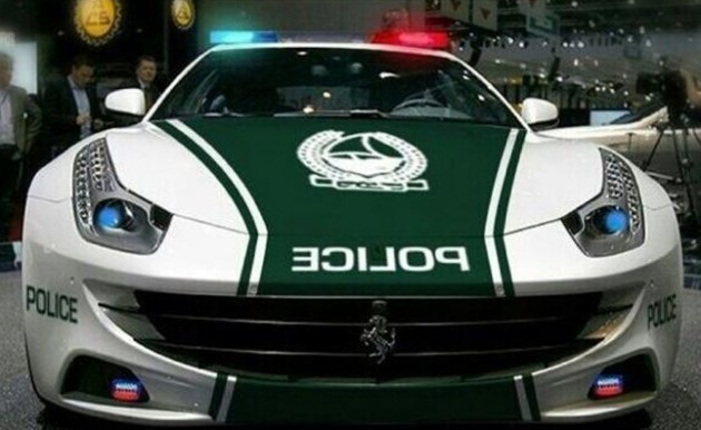 Ferrari FF police car Dubai-front