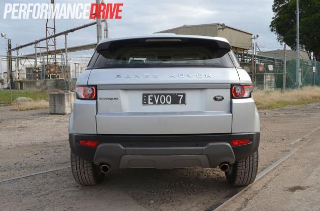 2012 Range Rover Evoque Pure SD4 rear