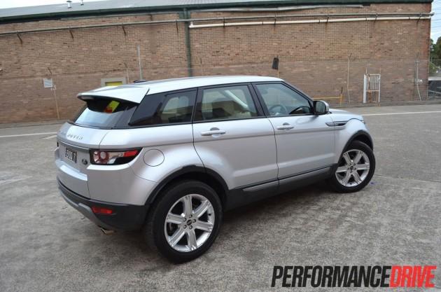 2012 Range Rover Evoque Pure SD4 rear side