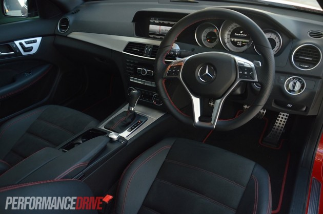 2013 Mercedes-Benz C 250 Coupe Sport steering wheel