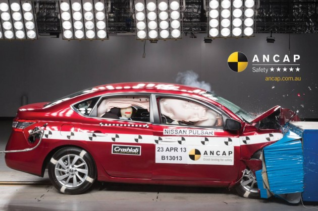 2013 Nissan Pulsar ANCAP crash test