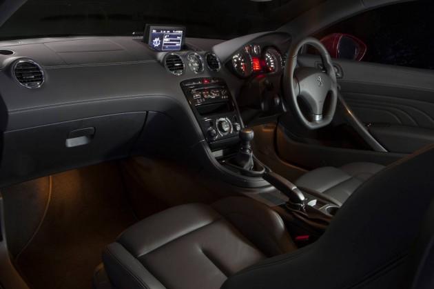 2013 Peugeot RCZ interior with sat-nav