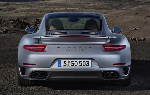 2014 991 Porsche 911 Turbo S rear
