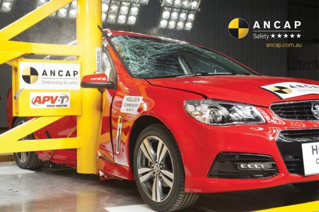 2014 Holden VF Commodore ANCAP crash test