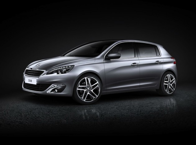 2014 Peugeot 308 silver front