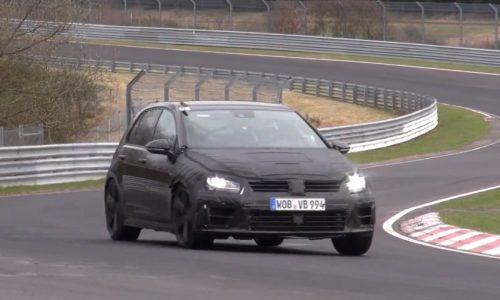 Video: 2014 Volkswagen Golf R Mk7 prototype spied at the Nurburgring