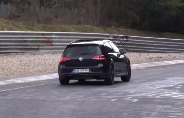 2014 Volkswagen Golf R Mk7 prototype rear-Nurburgring