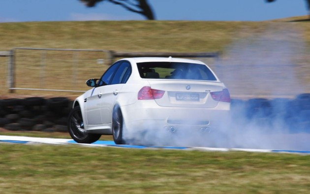 BMW M3 sideways