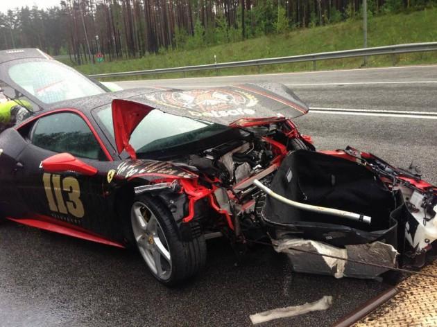Ferrari 458 Gumball 3000 crash