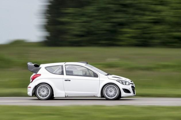 Hyundai i20 WRC testing driving