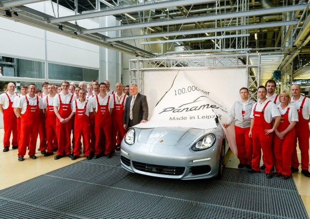 Porsche Panamera 100,000th production Leipzig