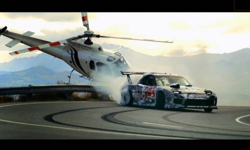 Video: Red Bull Mazda RX-7 in epic 10.4km mountain drift in NZ