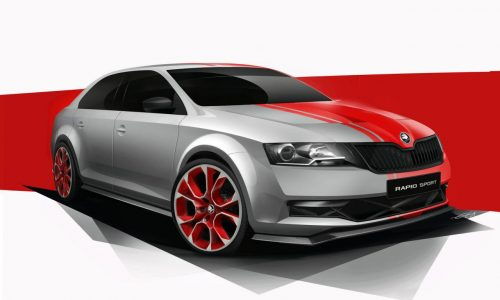 Skoda Rapid Sport concept previewed before Worthersee