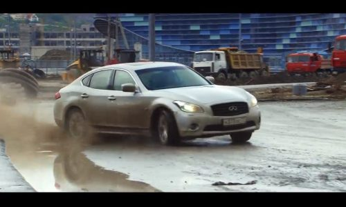 Video: Vettel and Coulthard drive unfinished Russian F1 circuit