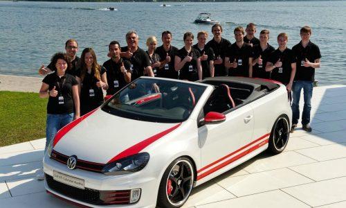 Volkswagen Golf 'GTI Cabrio Austria' revealed, built by VW apprentices