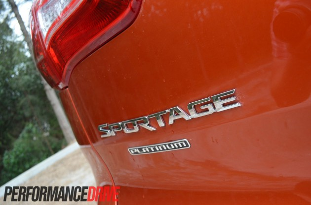 2013 Kia Sportage Platinum rear badge