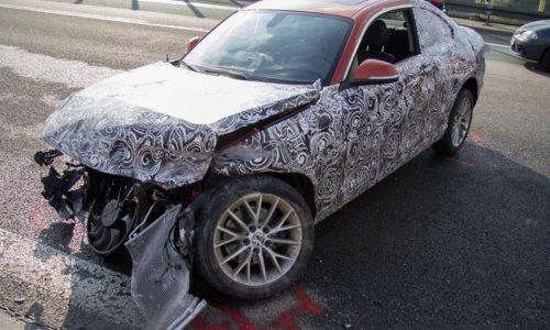 BMW 2 Series prototype crash on autobahn in Germany