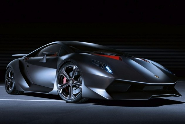 Lamborghini Sesto Elemento black