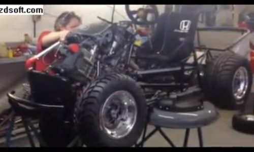 Video: Top Gear and Honda creating world's fastest lawnmower