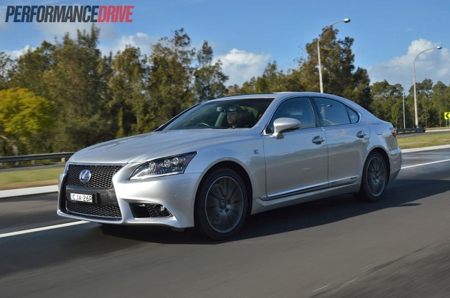 2013 Lexus LS 600h F Sport-driving