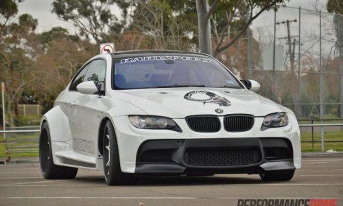 Supercharged BMW M3 with Vorsteiner widebody kit (video)