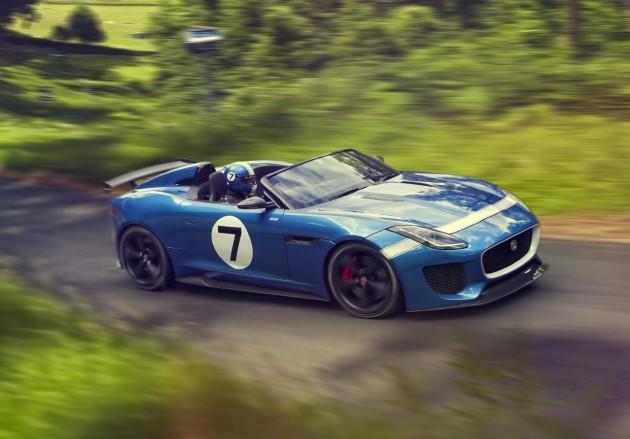 Jaguar Project 7 concept driving