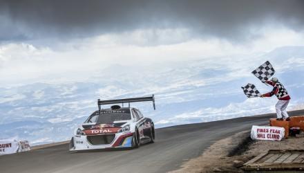 Sebastien Loeb Peugeot 208 T16 Pikes Peak record 8min 13
