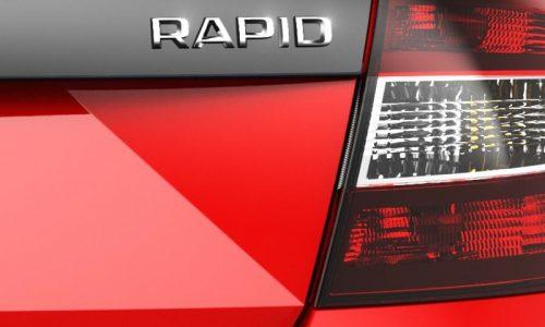 New Skoda Rapid teaser, possible sports model?