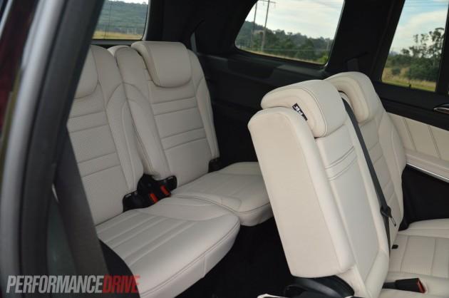2013 Mercedes-Benz GL 63 AMG third row seats