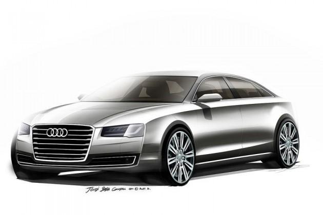 2014 Audi A8 sketche
