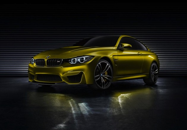 BMW M4 Concept Coupe yellow