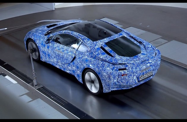 BMW i8 wind tunnel