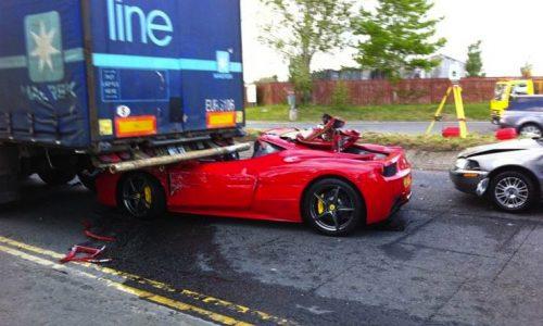 Ferrari 458 crash in Ireland, hours after purchase