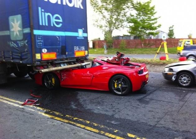 Ferrari 458 crash-Ireland