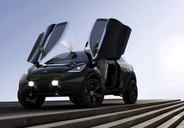 Kia Niro concept-doors up