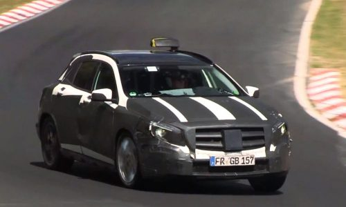 Video: Mercedes-Benz GLA-Class spotted, prototype taxi?