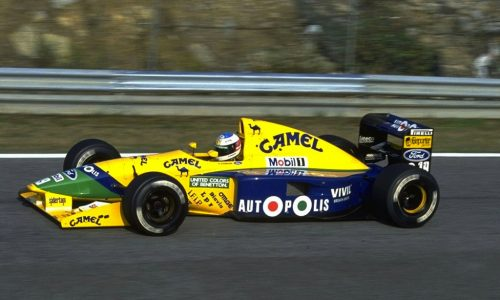 For sale: Schumacher's Benetton B191, scored his first F1 points