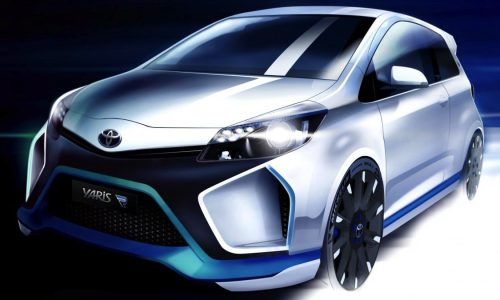 Toyota Yaris Hybrid-R Concept previewed in full sketch