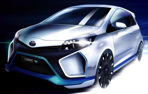 Toyota Yaris Hybrid-R Concept sketch