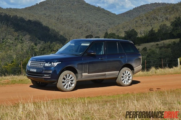 2013 Range Rover Vogue SE raised suspension