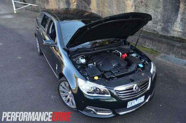 2014 Holden VF Calais V V8 Sportwagon open bonnet