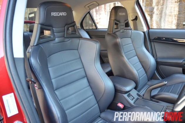 2014 Mitsubishi Lancer Evolution X MR Recaro seats front
