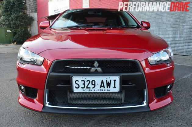 2014 Mitsubishi Lancer Evolution X MR front intercooler