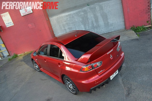 2014 Mitsubishi Lancer Evolution X MR rear spoiler